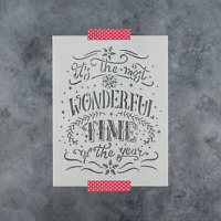 Wonderful Christmas Stencil - Durable & Reusable Mylar Stencils