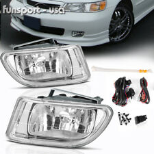 for 1999-2004 Honda Odyssey Clear Front Bumper Fog Light Lamp+Wiring+Switch PAIR