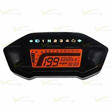 Universal Motorcycle LCD Digital KMP MPH Speedometer Odometer For 1 2 4 Cylinder