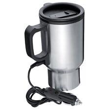 Insulated Heated Travel Mug 12V Car Connector Flask plug in cup tea