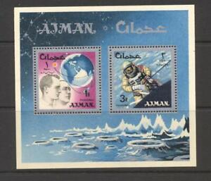 Ajman 1966 Mi block 8A  Space Research  MNH