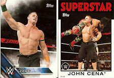 JOHN CENA 2016 Topps WWE Then Now & Forever #6/49 + Heritage #2/49 5x7 Lot