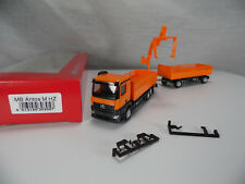 ht511, Herpa 303057 Mercedes-Benz Antos M Baustoff Hängerzug & Ladekran NEU/NEW