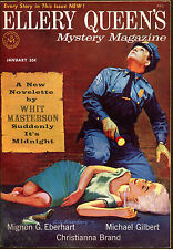 Ellery Queen's Mystery Magazine-01/58-Whit Masterson, Pictorial Cover Art