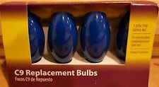 Light Keeper Pro Ceramic Blue C9 Replacement Bulbs 120V 7W 60Hz Ac, 4-Count