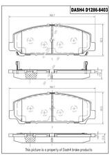 Disc Brake Pad Set-Ceramic Pads Front Pronto PCD1286