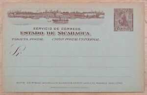 MayfairStamps Nicaragua Universal Postal Union 3 Cents Mint Stationery Card wwm8