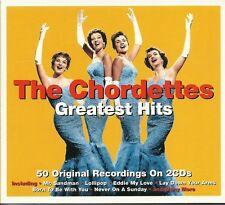 THE CHORDETTES GREATEST HITS - 2 CD BOX SET - MR SANDMAN, LOLLIPOP, TAMMY & MORE