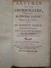 VADE : LETTRES DE LA GRENOUILLERE, La Pipe Cassée, Le Déjeuné de la Rapée, 1759.
