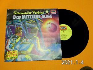 """Commander Perkins Nr.9 """"Das mittlere Auge"""" Hörspiel LP von Europa 115 693.4"""