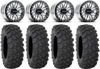 "Raceline Ryno Bdlk 14"" Mh Wheels 30"" XTR370 Tires Polaris RZR XP 1000 / PRO XP"
