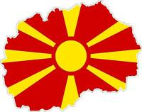 Sticker car moto map flag vinyl outside wall decal macbbook macedonia