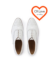 CR LOVE ❤️  NEW! COUNTRY ROAD SZ 10 (41) 'CADIE BROGUE OXFORD' WHITE LEATHER