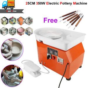 350W25CM Electric Pottery Wheel Machine Ceramic Work Clay Craft Art School Teach