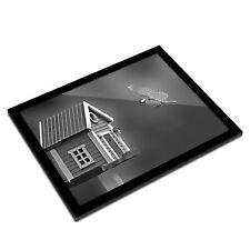 A3 Glass Frame BW - Flying Tit Bird House Garden  #42566