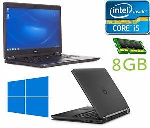 Dell Latitude E7450, i5-5300U 2.30 GHz, 8GB DDR3 Memory, 256GB SSD, Windows 10,