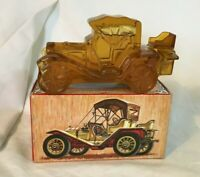 * VIntage Avon Packard Roadster Perfume Bottle in Box FULL Leather Cologne