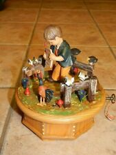 Vtg Anri Thorens Hand Crafted Wooden Lg Music Box Plays, The Morning By Grieg,