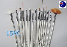15PCS Nail Art Design Pro manicure Painting Acrylic Gel Draw Pen Brush Tool Set