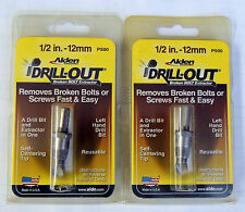 "ALDEN 2PC 1/2"" (12MM) DRILL-OUT BROKEN DAMAGED BOLT SCREW EXTRACTOR 5007P P500"
