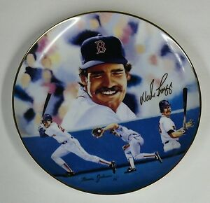 """COLLECTIBLE PLATE > WADE BOGGS > LARGE 10"""" PLATE"""