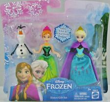Disney Frozen SISTERS GIFT SET 3 Small Doll ELSA ANNA & OLAF Toy Figure Cake Top