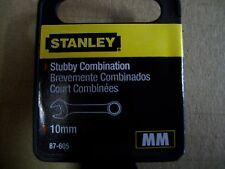 NEW  STANLEY  STUBBY  FULL  POLISH  COMBINATION  WRENCH METRIC  10 mm