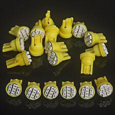 20x T10 8-SMD Amber LED Car Light Wedge Bulb Ultra Super Bright 194 2825 921 168