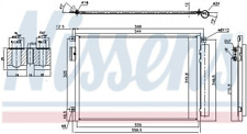 Kondensator, Klimaanlage NISSENS 940693 für FIAT