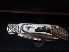 FALKNER WILDLIFE BALD EAGLE ANNIVERSARY POCKET KNIFE WITH COA & DISPLAY BOX