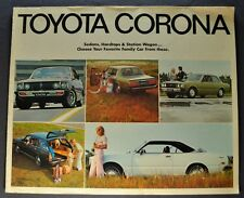1972 Toyota Corona Catalog Sales Brochure Original 72
