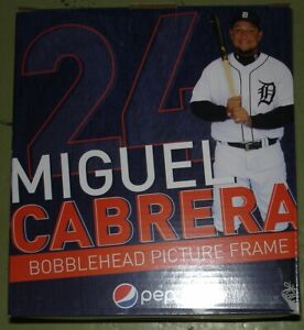 Miguel Cabrera Bobblehead Picture Frame New