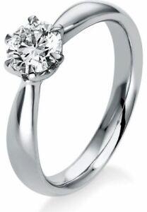 Diamantring Ring - 18K 750/- Weissgold - 0.75 ct. - 1N558W854 - Ringweite: 54