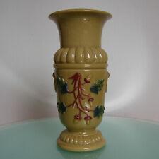 ANCIEN VASE OPALINE DE FOIRE ANTIQUE FRENCH CARAMEL MILK GLASS C1900 VINTAGE