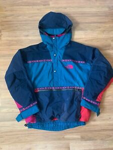 VTG The North Face TNF Rage Pullover Aztec Pullover Parka Jacket Size Large 90s