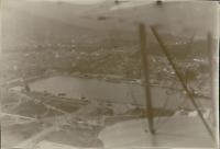 Tunisie, Vue aérienne de Bizerte  Vintage silver print.  Tirage argentique d&#