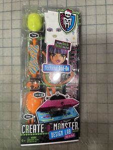 NEW Sealed Monster High Dolls Create-A-Monster Design Lab Nocturnal Add-On Pack