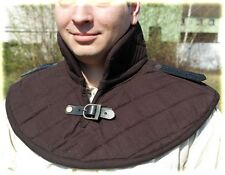 Padded Cotton Collar Gorget Medieval Cap Arming Neck Black Colo Chainmail Inner