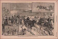 Androscoggin River, Maine, New Hampshire, Trotting Horses, antique print 1880
