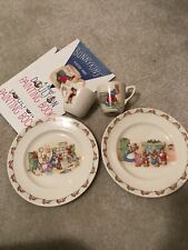 Bunnykins vintage Royal Doulton Barbara Vernon Child's Plates/Cups/ paint Books