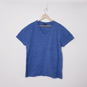 Witchery Mens Size 2XL XXL Blue V Neck Cotton blend Tee t shirt