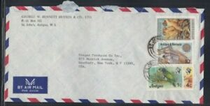 ANTIGUA Commercial Cover St. John's to Westbury 11-4-1980 Cancel