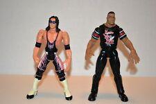 Mattel Wwe The Rock & Bret Hart Lot of 2 1999 wrestling action figures