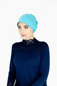 Under Scarf Bonnet/Hijab - Cap with Plastic Front Style - Cotton/Polyester Blend
