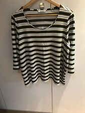marks & spencer striped jersey stretch top s 24