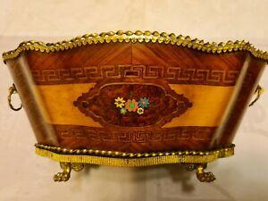 Rare jardinière de table en marqueterie d'époque Napoléon III