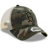 New Era Boston Red Sox Camo Honor Trucker 9TWENTY Adjustable Hat
