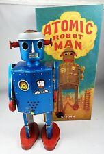 Robot - Robot Marcheur Mécanique en Tôle - Atomic Robot Man Géant Bleu (St.John