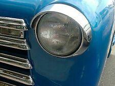 CHEVROLET HEADLIGHT VISOR STAINLESS VISOR CADDY STYLE CARS 1948 TO 1952