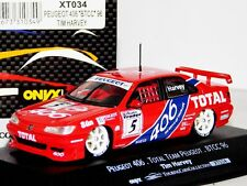PEUGEOT 406 TOTAL TEAM PEUGEOT #5 TIM HARVEY BTCC 1996 ONYX XT034 1/43